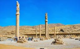 Руины дворца Apadana, Persepolis, Иран Стоковое Фото