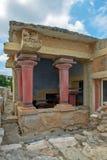 Руины дворца Knossos на Крите, Греции Стоковые Фото