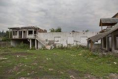 Руины дома от города Toplita Стоковое фото RF