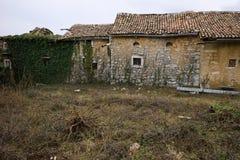 руины дома старые Стоковое Фото