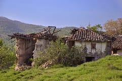 руины дома старые Стоковая Фотография