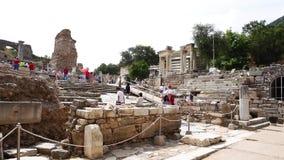 Руины древнего города Ephesus в Izmir сток-видео