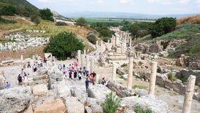 Руины древнего города Ephesus в Izmir видеоматериал