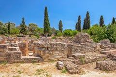 Руины древнего города Gortyna на Крите, Греции стоковая фотография rf