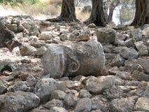 Руины древнего храма Аполлона на острове в Эгейском море Стоковые Фотографии RF