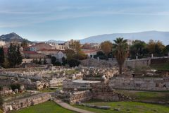 Руины древней греции Стоковые Изображения RF