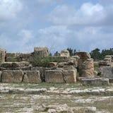 Руины древних народов в Cirene Стоковое фото RF