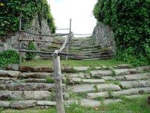Руины лестницы замка Стоковое Изображение