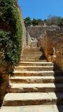 Руины лестниц в Крите Стоковая Фотография