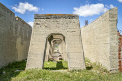 Руины завода в Антиохии, Небраски поташа Стоковое Изображение