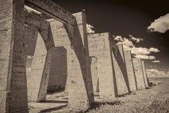Руины завода в Антиохии, Небраски поташа Стоковое Фото