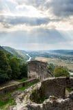 Руины замка в горе Стоковая Фотография