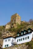 Руины замка в средневековой деревне Durnstein Стоковое фото RF