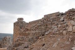 Замок Nimrod и ландшафт Израиля Стоковые Фото