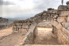 Замок Nimrod и ландшафт Израиля Стоковые Фотографии RF
