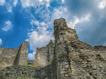 Руины замка Likava стоковые изображения
