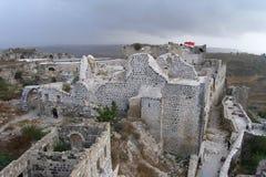 Руины замка Marqab в Сирии Стоковое Фото