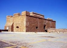 Руины замка, Paphos, Кипр. Стоковая Фотография RF