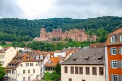 Руины замка Schloss Гейдельберга Гейдельберга, Германии стоковые изображения rf