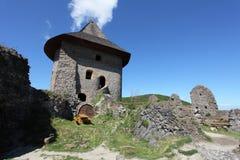Руины замка Somoska, Словакии стоковые фотографии rf
