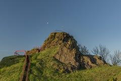 Руины замка Tolstejn в горах Luzicke hory Стоковая Фотография