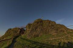 Руины замка Tolstejn в горах Luzicke hory Стоковая Фотография RF
