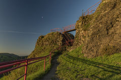 Руины замка Tolstejn в горах Luzicke hory Стоковые Фото