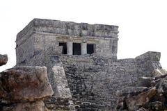 Руины замка Tulum, Мексики стоковые изображения rf