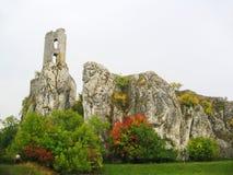 руины замока средневековые Стоковая Фотография