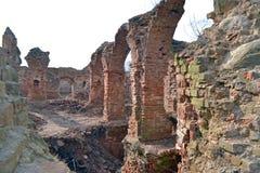 руины замока старые Стоковые Изображения RF