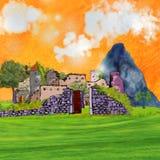 руины замока Стоковое Изображение RF