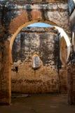 Руины здания в Chellah, Рабате, Марокко Стоковые Изображения