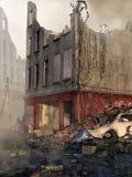 Руины здания города иллюстрация вектора
