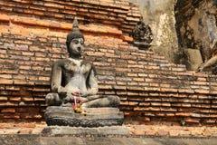 Руины изображения Будды Стоковая Фотография