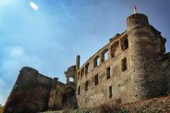 Руины имперской крепости неприступного Beilstein, немецкие стоковые изображения rf