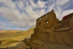 Руины династии guge Тибета Стоковое Изображение