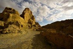 Руины династии guge Тибета Стоковые Фотографии RF