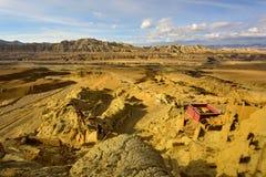 Руины династии guge Тибета Стоковая Фотография RF