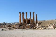 руины Иордана greco gerasa города римские Стоковые Фото