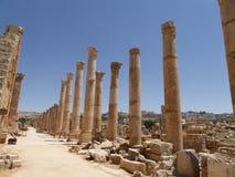 руины Иордана jerash Стоковые Изображения