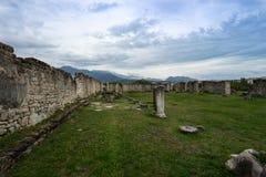 Руины камня исторического Salonae близко разделили, Далмация, Хорватия Стоковые Изображения