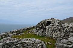 Руины камня хат улья Clochan Стоковое Изображение