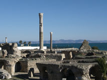 руины Картагоа стоковые изображения rf