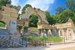 Руины Карфагена. Schonbrunn. Вена, Австрия Стоковое фото RF