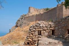 Руины Коринфа. Стоковое Изображение RF