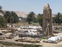 Руины колоссов Memnon Стоковая Фотография