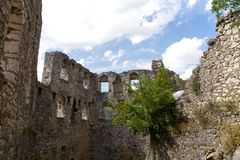 Руины крепости, Боснии и Hercegovina Pocitelj Стоковое Фото