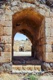 Руины крепости двенадцатого века Hospitallers - Belvoir - звезды Джордана - в национальном парке звезды Джордана около городка Af Стоковые Изображения