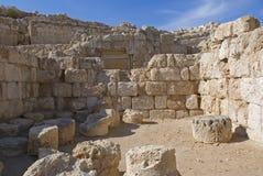 Руины крепости Herod, большого, Herodium, Палестина стоковая фотография rf