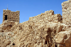 Руины крепости Masada, Израиль Стоковые Изображения RF